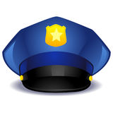 Blue Police Hat Stock Image