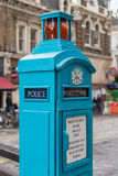 Blue Police Phone Post London Royalty Free Stock Photography