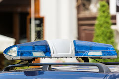 Blue Police Siren. Close Up royalty free stock photos