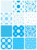 Blue polka dot Royalty Free Stock Photo