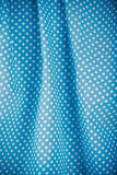 Blue polka dot fabric Royalty Free Stock Images