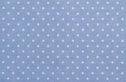 Blue polka dot fabric Royalty Free Stock Image