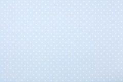 Blue polka dot fabric, texture background Stock Image