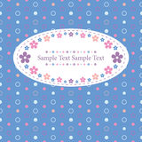 Blue polka dot greeting card Stock Image