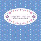 Blue polka dot greeting card Stock Image