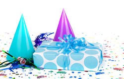 Blue Polka Dot Present Royalty Free Stock Image