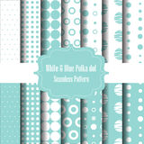 Blue polka dot set 2 Stock Photography