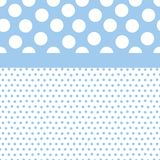 Blue Polka Dots Background. Background illustration of small and large polka dots in baby boy colors Royalty Free Stock Photo