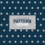 Blue polka dots background with gray circles. Vector royalty free illustration