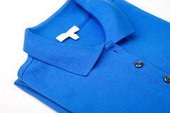 Blue polo shirt Stock Photo