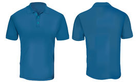 Blue Polo Shirt Template Stock Image