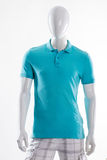 Blue polo t-shirt on mannequin. Royalty Free Stock Photography