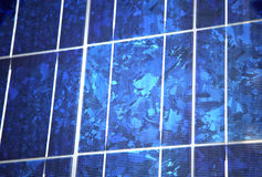 Blue polycrystalline solar panel Royalty Free Stock Photo