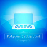 Blue polygon abstract Royalty Free Stock Photography