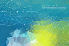 Blue polygon abstract background. Vector Stock Illustration