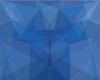 Blue polygon abstract background. Royalty Free Stock Image