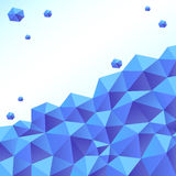 Blue polygon background, vector Royalty Free Stock Images