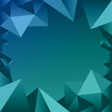 Blue Polygon Border Icon Stock Photos
