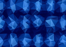 Blue Polygonal Abstract triangle texture background. Creative Design Templates Stock Images