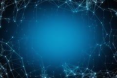 Blue polygonal background. Creative blue polygonal background. Technology concept. 3D Rendering royalty free illustration