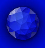Blue polygonal button Royalty Free Stock Photography