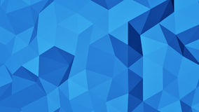 Blue polygonal geometric 3D surface abstract background Stock Photos