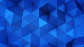 Blue polygonal geometric surface 3D rendering. Blue polygonal geometric surface. Computer generated abstract background. 3D rendering vector illustration