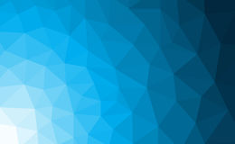 Blue polygonal mosaic background with gradient Stock Image
