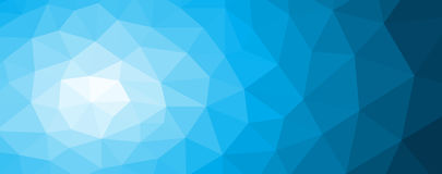 Blue polygonal mosaic background with gradient. Vector illustration Stock Photos