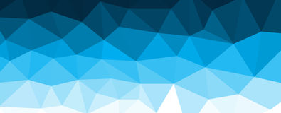 Blue polygonal mosaic background with gradient. Vector illustration Royalty Free Stock Photos