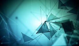 Blue polygonal wallpaper, technology Royalty Free Stock Photos