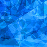 Blue polygons. Abstract background pattern in polygonal style in light and dark blue colors Royalty Free Stock Photos