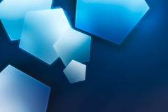 Blue polygons. Blue color polygons scene abstract background stock illustration