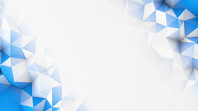 Blue polygons and free space abstract 3D render background Royalty Free Stock Photography