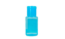 Blue polymer bottle. The Blue polymer bottle on the white background Stock Image