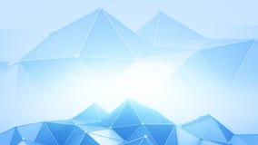 Blue polyonal futuristic contruction 3D render. Blue polyonal futuristic contruction. Abstract 3D render background Stock Image