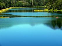 Blue Pond royalty free stock image