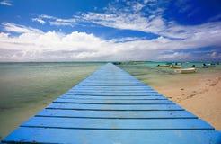 Blue pontoon Royalty Free Stock Image
