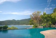 Blue pool Stock Image