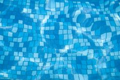 Blue pool background 4 Royalty Free Stock Image