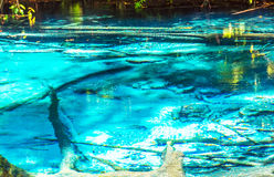 The Blue pool in the forest Stock Images