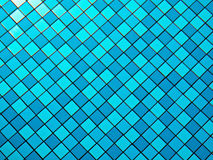 Blue pool mosaic background Stock Image