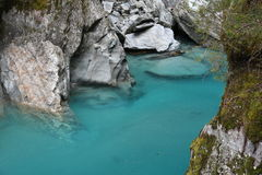 Blue Pool, New Zealand Royalty Free Stock Photo