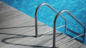 Blue Pool Railing Shadow stock video footage
