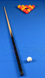 Blue pool table Royalty Free Stock Photography
