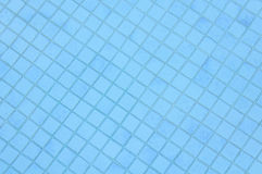 Blue Pool Tile Background Stock Photography