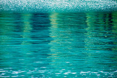Blue pool water Royalty Free Stock Images
