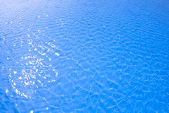 Blue pool water Stock Photo