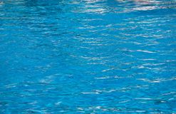 Blue pool water background . Clean and bright water Stock Images
