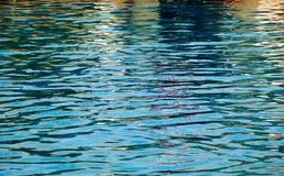 Blue pool water background . Clean and bright water Stock Photography